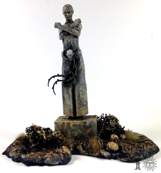 Mile statue